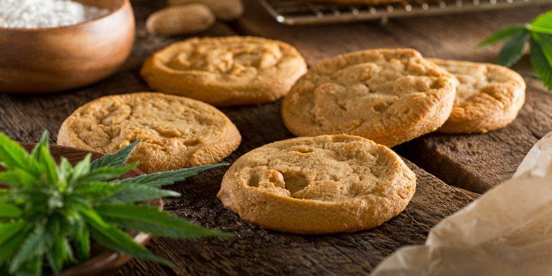 Cannabis Kekse gebacken