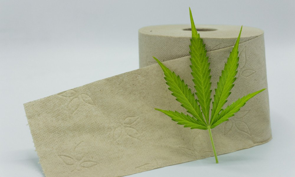 Hanf Toilettenpapier mit Cannabis Blatt